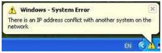 Beberapa Pesan Error Pada Jaringan Komputer