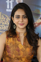 Rakul Preet Singh smiling Beautyin Brown Deep neck Sleeveless Gown at her interview 2.8.17 ~  Exclusive Celebrities Galleries 198.JPG
