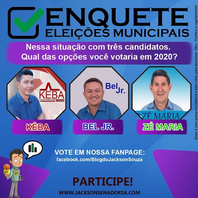 ENQUETE: Eleições Municipais de Senador Sá. Participe!!
