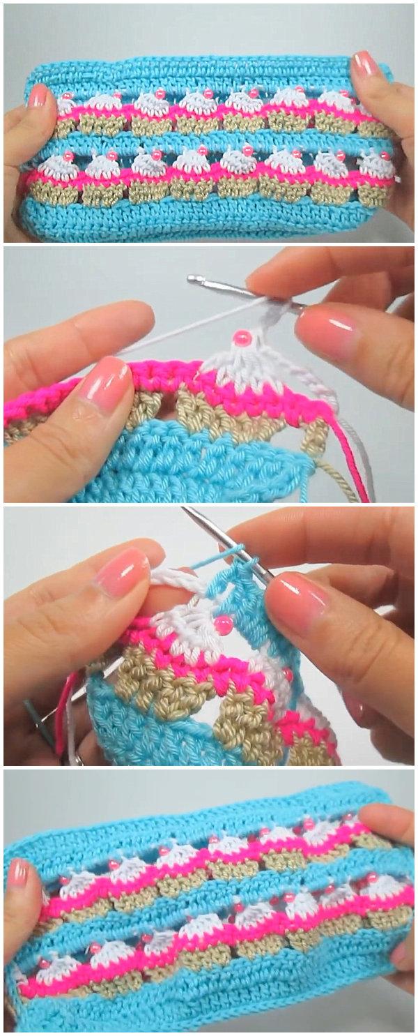 Cupcake Crochet Stitch Free Pattern