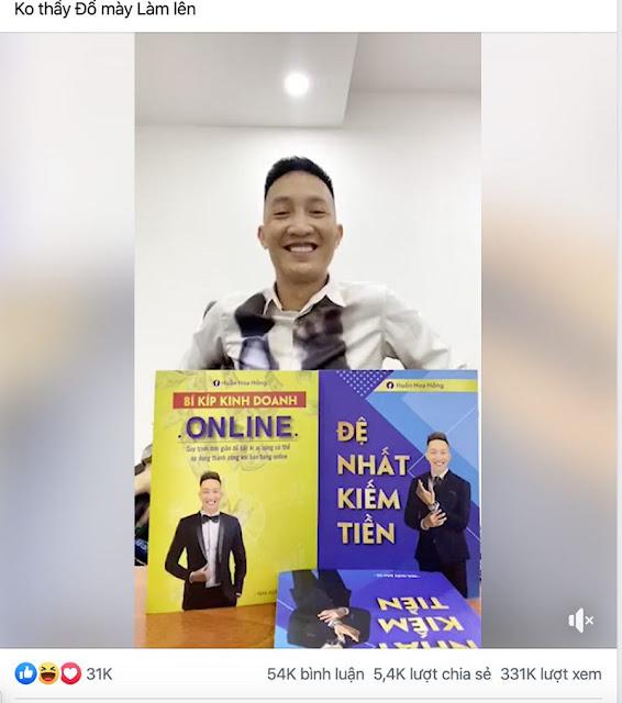 Huấn Hoa Hồng công khai thách thức pháp luật khi rao bán sách lậu do mình viết?