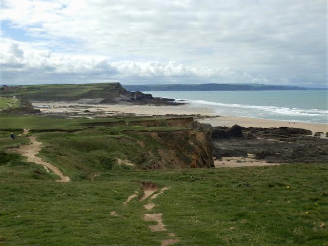 Cliffs along the coastal path