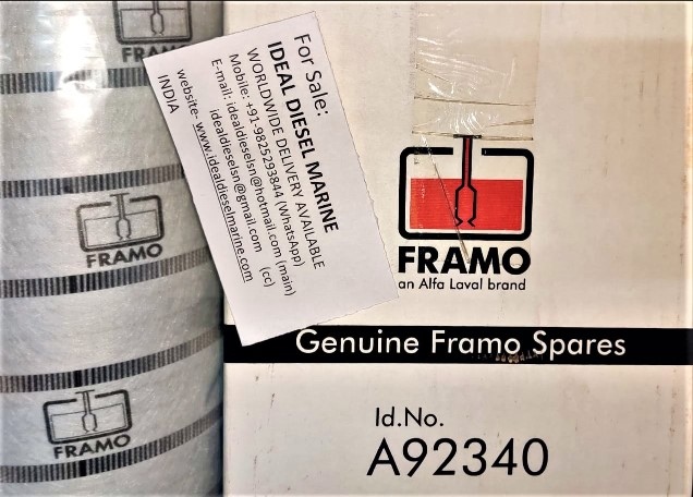 FRAMO Id. No. A92340 Filter IDEAL DIESEL MARINE Alfa laval