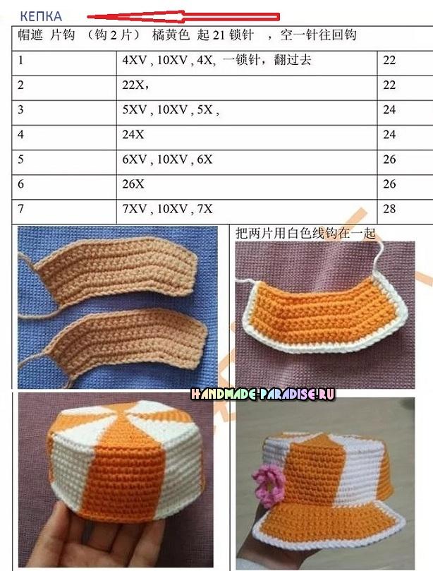 Описание вязания кепочки