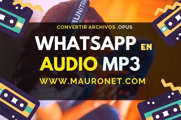 Convertidor audio MP3 para WhatsApp ON LINE 【GRATIS】.