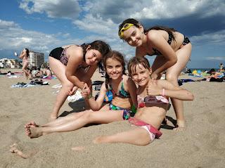 colònies: primera tarda de platja