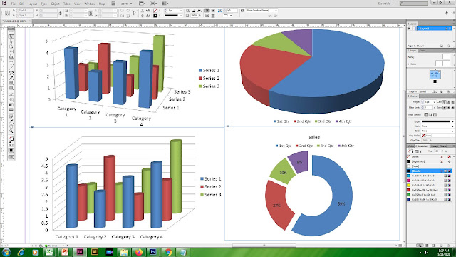 how to make graph in indesign