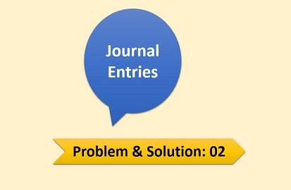Journal Entries   Problem & Solution-02
