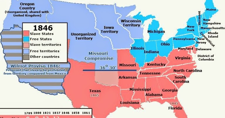 slave state free state map Upfront With Ngs Slave And Free States Us Through History