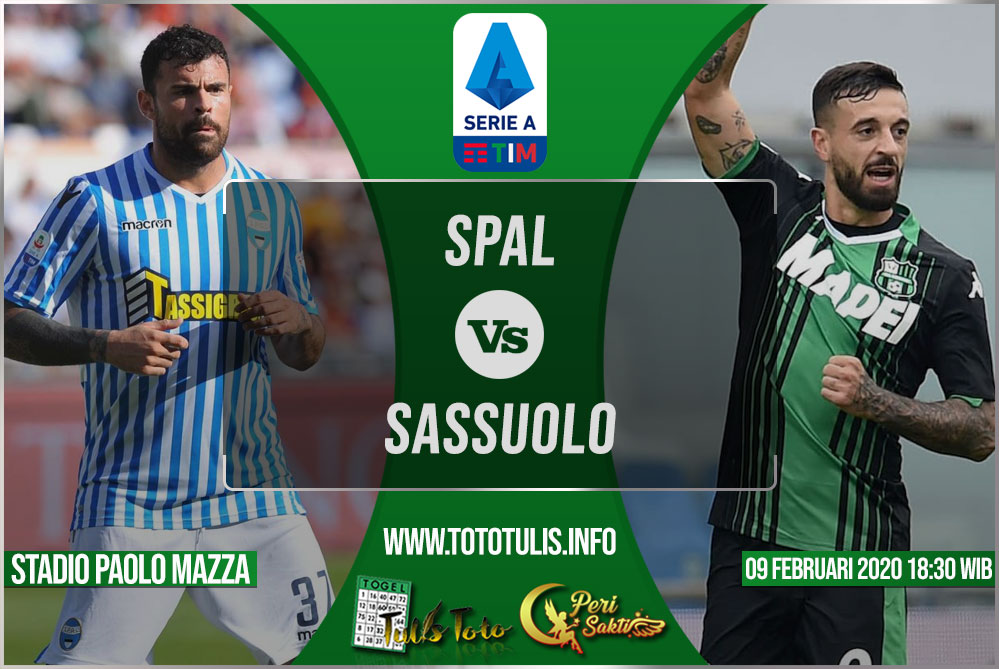 Prediksi SPAL vs Sassuolo 09 Februari 2020