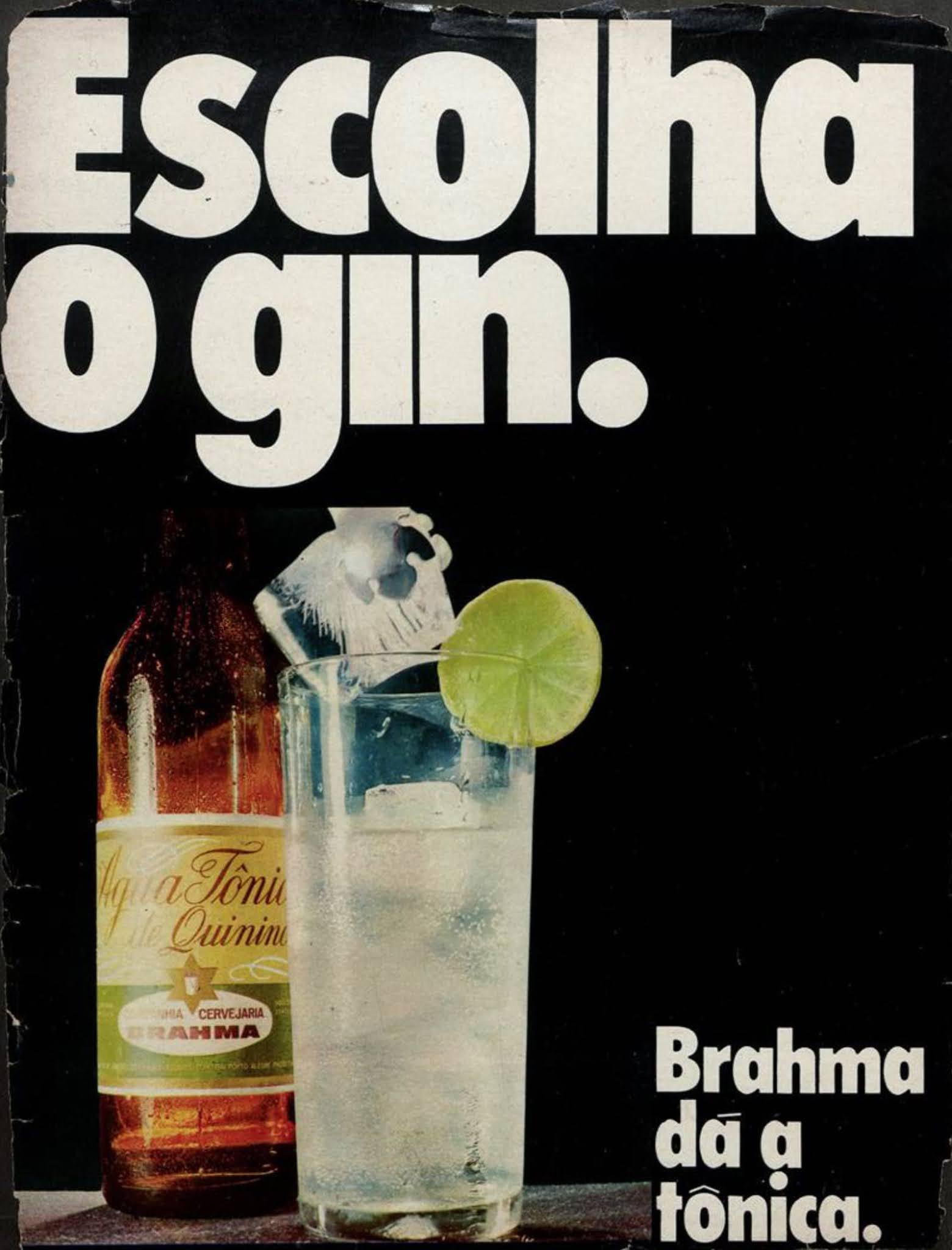 Anúncio da Brahma veiculado em 1970 promovendo sua água tônica