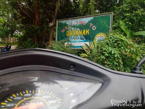 Daranak Falls welcome signage