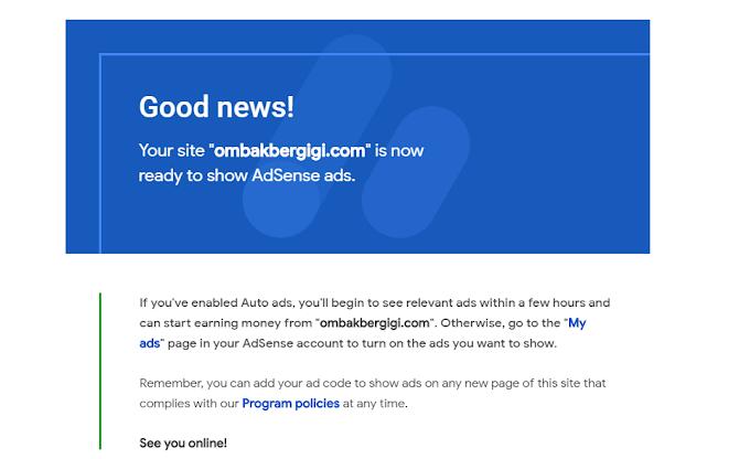 Alhamdulillah! Google Adsense Dah Berjaya Pasang Untuk Kali Ke 2.