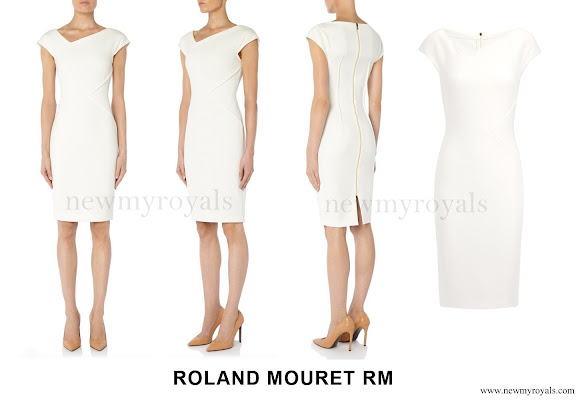Princess Charlene wore Roland Mouret Darlington Dress