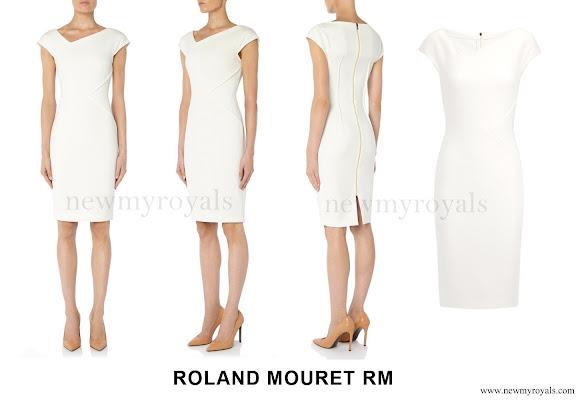 Princess Charlene wore Roland Mouret Darlington Dress