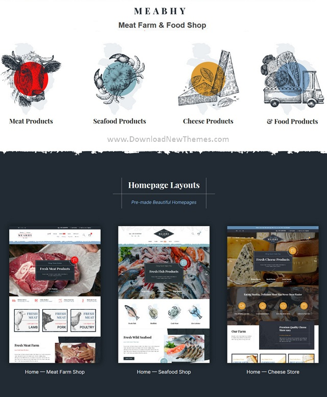 Meat Farm & Food Shop Responsive Website Theme