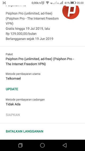 Cara Upgrade Psiphon menjadi Unlimited Setiap Bulan Gratis