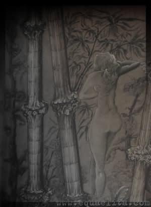 Обнаженная женщина в бамбуковых зарослях - символ человеческого эго