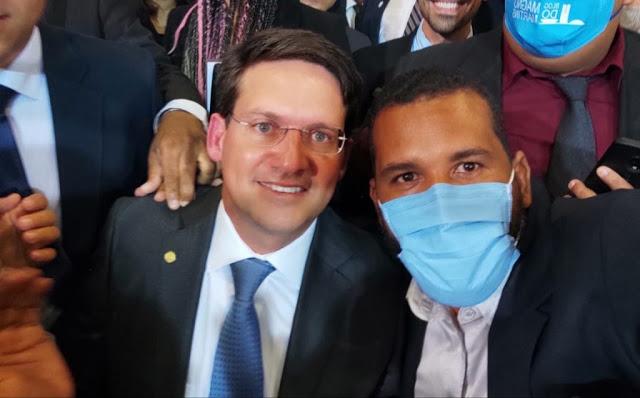 Prefeito Tiago Dias prestigia a posse do novo ministro da Cidadania