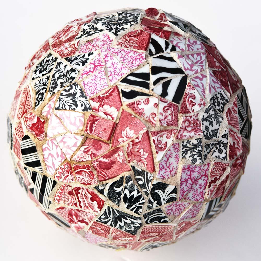 Mosaic bowling ball