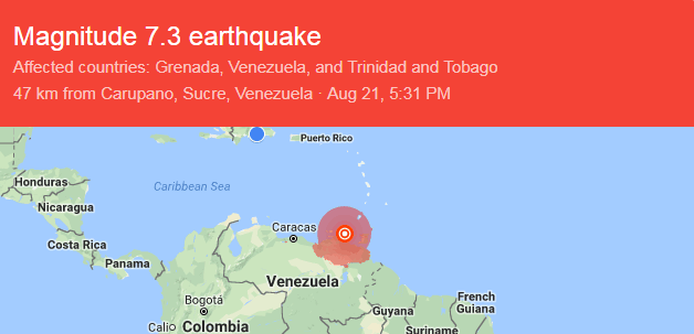 Terremoto de magnitud 7.3 en Venezuela