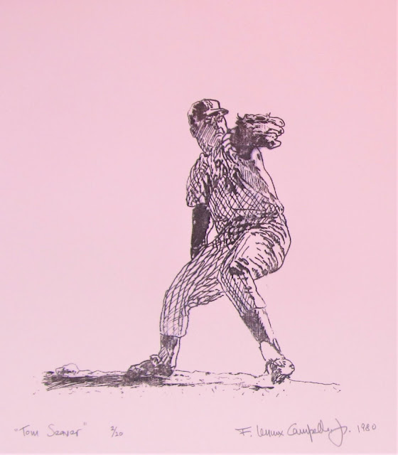 Tom Suever, 1980 litho by F. Lennox Campello done while at art school