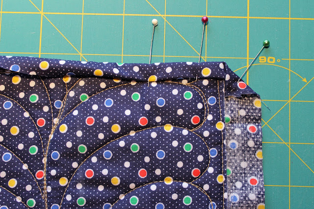 Fold Over Binding - fold corner to line up with quilt edge