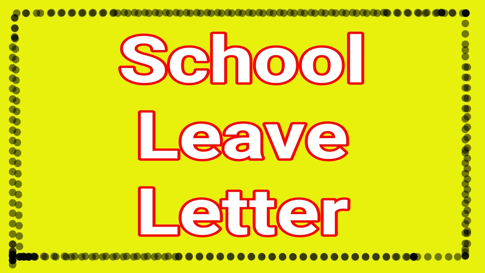 Students School College Office Leave Letter for fever | Top