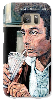Galaxy S7 Case with Kramer drinking milkshake by Boulder portrait artist Tom Roderick