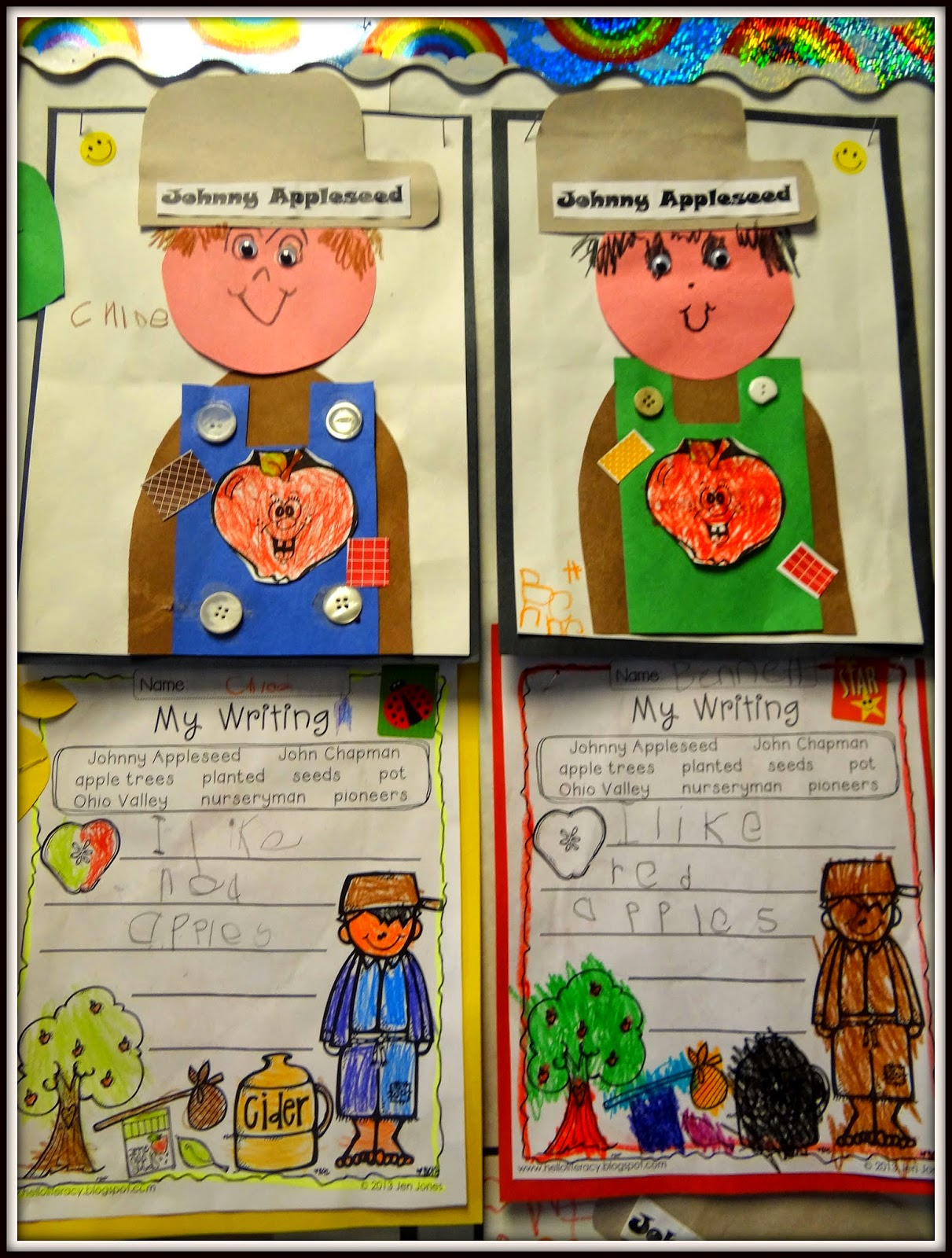 Patties Classroom Johnny Appleseed Art Math And Writing Fun