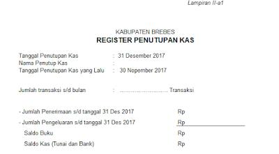 Format Laporan Kas & Persediaan 2017
