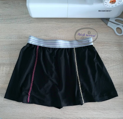 Dziecięca spódniczka DIY z resztek materiału - Adzik tworzy