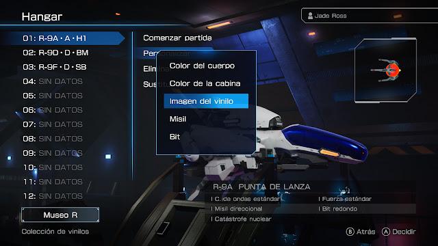 Análisis R-Type Final 2 en Switch - Customización de nave