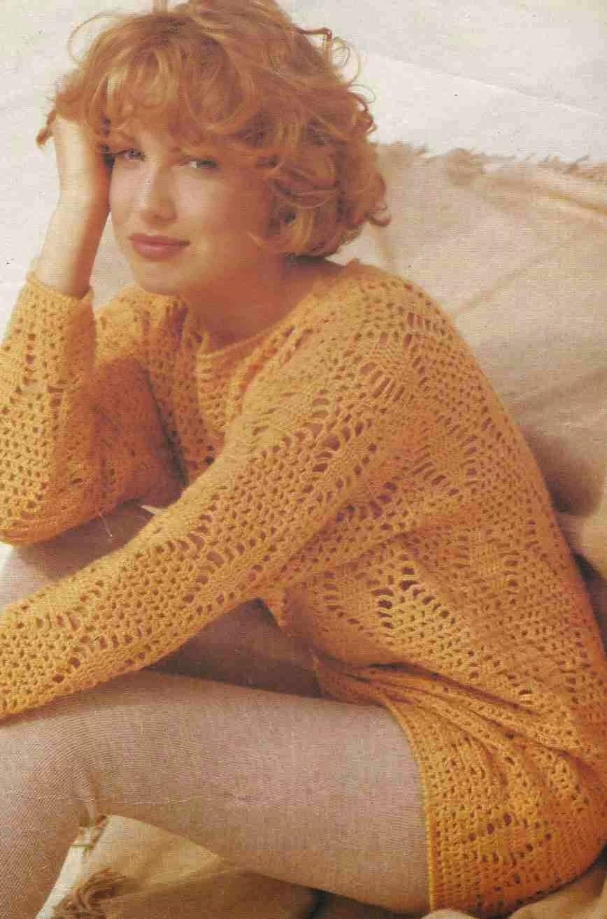 Camiseta con Rombos a Ganchillo o Crochet