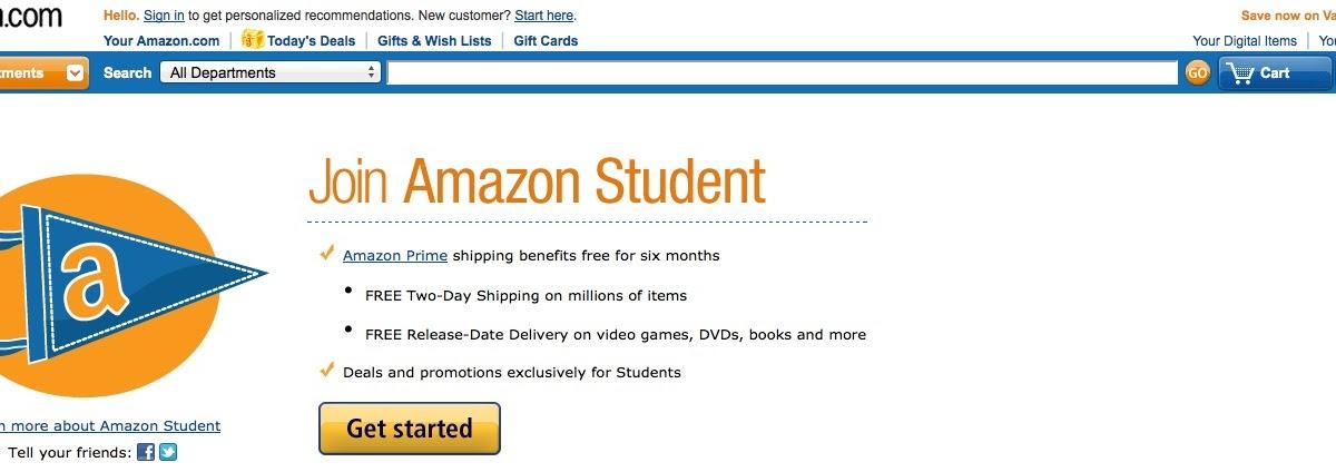 amazon 10 student discount