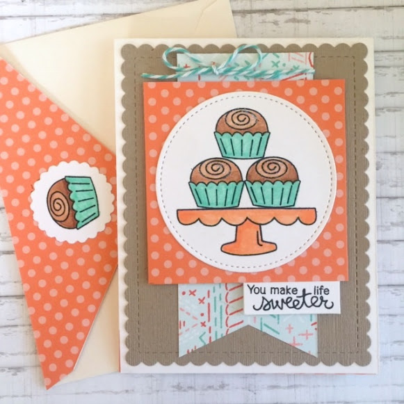 You make life sweeter by Donna features Love & Chocolate by Newton's Nook Designs; #inkypaws, #newtonsnook, #cardmaking