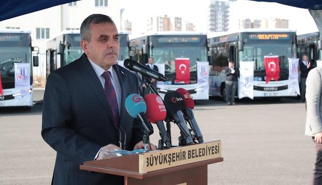 Urfa'da toplu taşımaya yeni otobüsler katıldı