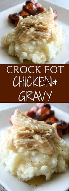 CROCK POT CHICKEN AND GRAVY SLOW COOKER RECIPES