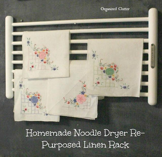 repurposed noodle dryer rack