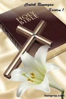Contoh Renungan Kristen 1