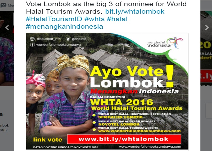 WHTA 2016, Sembalun as World Best Halal Honeymoon Destination?
