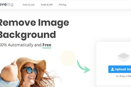 Cara mengganti background foto online Gratis pakai HP
