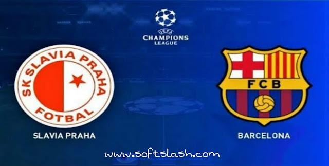 شاهد مباراة Slavia brag vs Barcelona live بمختلف الجودات