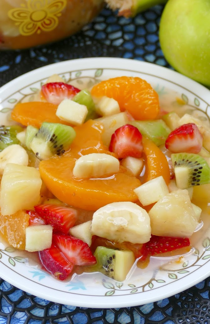 Hot Eats And Cool Reads Peachy Tropical Fruit Salad Recipe