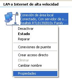 editar dns windows xp