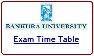 Bankura University Exam Routine 2020