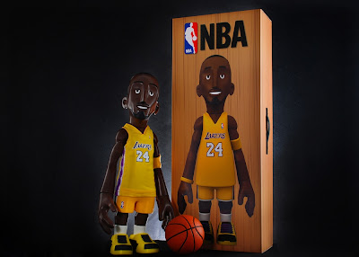 "MINDstyle x CoolRain NBA Kobe Bryant Home Yellow Lakers Jersey Edition 18"" Vinyl Figure"