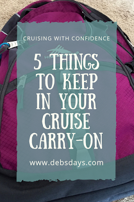 5 things to keep in your cruise ship carry on