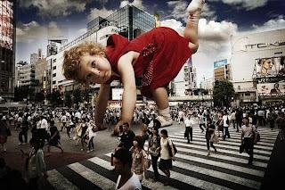 Foto creativa con niños