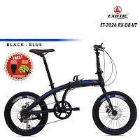 sepeda lipat exotic et2026rx folding bike